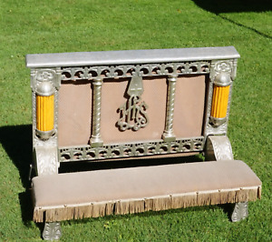 Antique Vintage Funeral Kneeling Bench - Art Deco 1930's