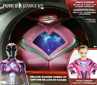 Power Rangers Kids Deluxe Dress Up Pink Ranger NIB ()