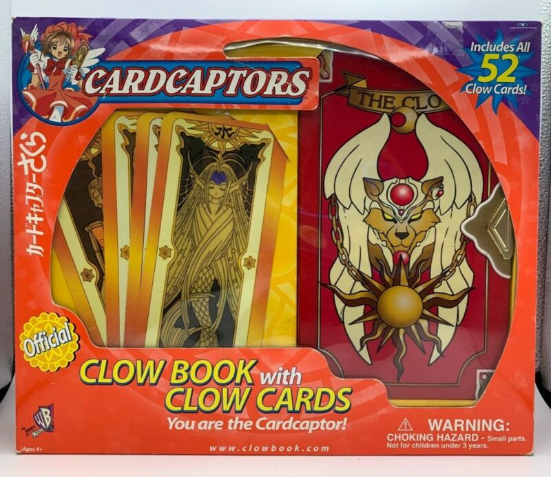 2000 TRENDMASTERS CARDCAPTORS CLOW BOOK WITH CLOW CARD (52 CARDS) IN BOX New