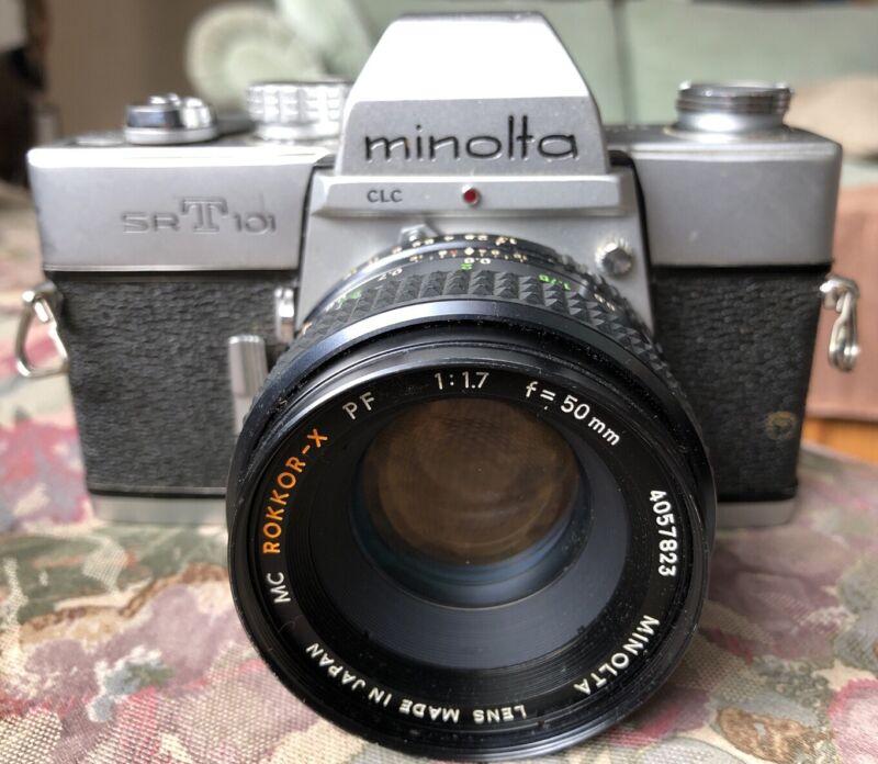 Minolta Camera SRT101 35mm & MC Rokkor-X PF 1:1.7 f=58mm Lens Tested Works