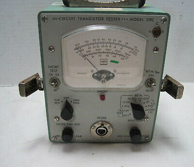 Philco Model 219c Military In-circuit Transistor Tester