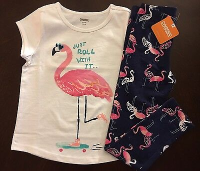 "NWT Gymboree Girl Mix ""N"" Match Flamingo Tee & Leggings Outfit 4 5 6 7 8 10 12"