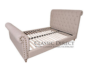 BED QUEEN FRENCH EMPIRE CHESTERFIELD OAK FRENCH PROVINCIAL RRP $4500
