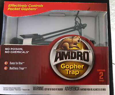 New AMDRO Baitless Gopher Trap 2 pack Home Pest Control  Free Shipping! Gopher Pest Control