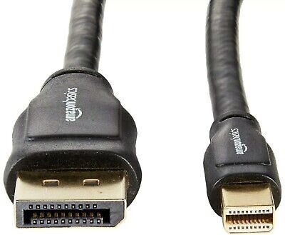NEW AmazonBasics Mini DisplayPort to DisplayPort Display Cable - 6 Feet 1-Pack