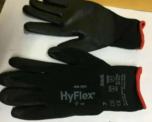 12 pairs  Hyflex 48-101  Gloves Coated ANSELL Size 7 Home Industrial Work