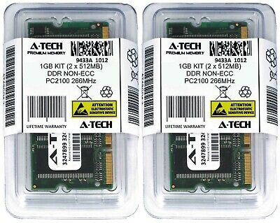 A-Tech 1GB 2 x 512MB PC2100 Laptop SODIMM DDR 266 MHz 200-Pin DDR1 Memory RAM (512mb Ddr266 Pc)