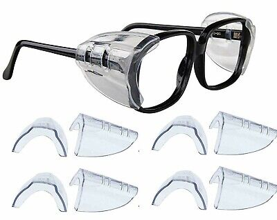 4 Pair Safety Eye Glasses Side Shields Clear Slip Protection In Medium Large
