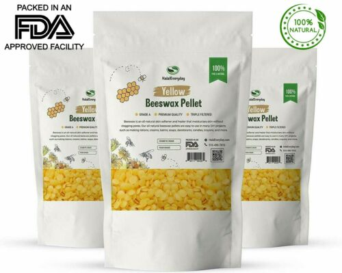 Beeswax Granules Pearls Pastilles Pellets Yellow 100% Pure Food Cosmetic Grade