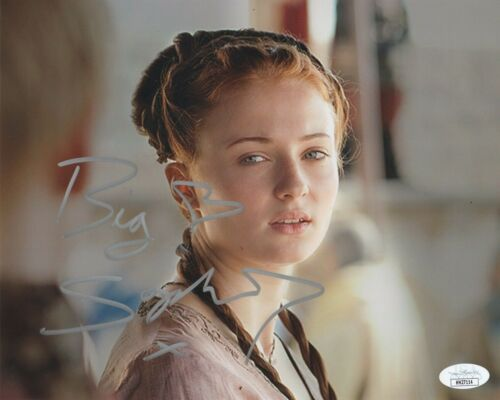 Sophie Turner Game of Thrones Autographed Signed 8x10 Photo JSA COA