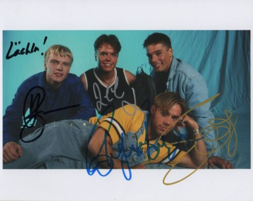 Caught In The Act Band full signed 8x10 inch photo autographs
