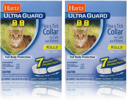 2 Pack Hartz Ultraguard Flea & Tick Collar for Cats & Kittens