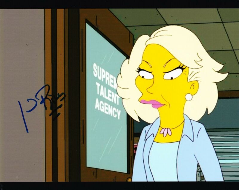 JOAN RIVERS SIGNED 8X10 PHOTO AUTOGRAPH THE SIMPSONS FOX FASHION ICON COA C
