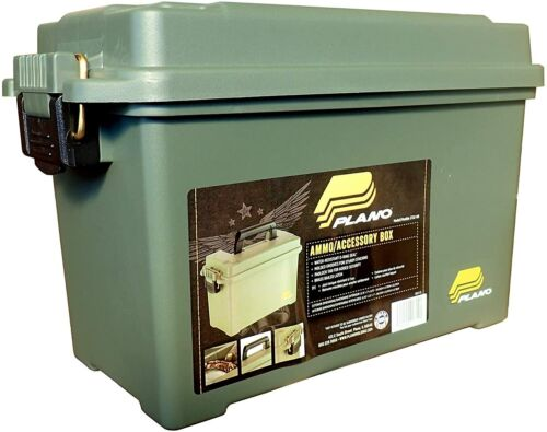 Plano Ammo Field Box,Green,For .50 Caliber Ammo storage,Water-Resistant,Durable