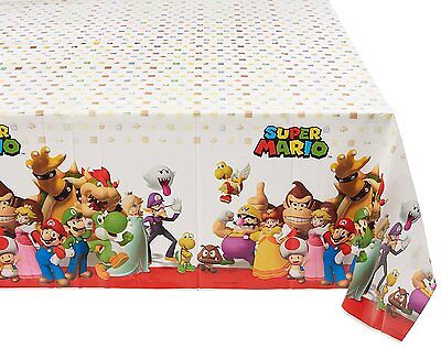 Super Mario 1X Plastic Table Cover Birthday Party Supplies Decoration - Super Mario Birthday Party Supplies