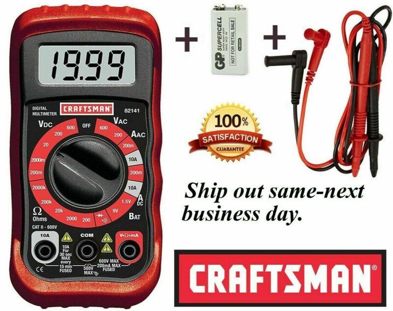 CRAFTSMAN Digital Multimeter Volt AC DC Tester Meter Voltmeter Ohmmeter
