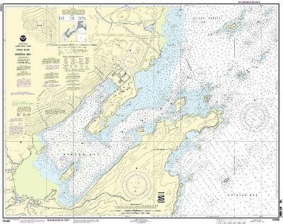 by East View Geospatial Water-Resistant NOAA Chart 18561-Approaches to Yaquina Bay; Depoe Bay