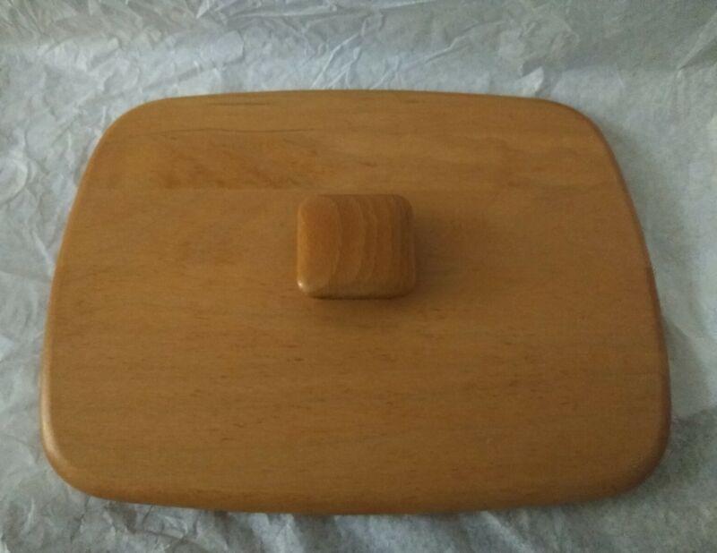 """Longaberger Woodcrafts Basket Lid Only No Basket 8 1/2"""" x 6 1/2"""""""