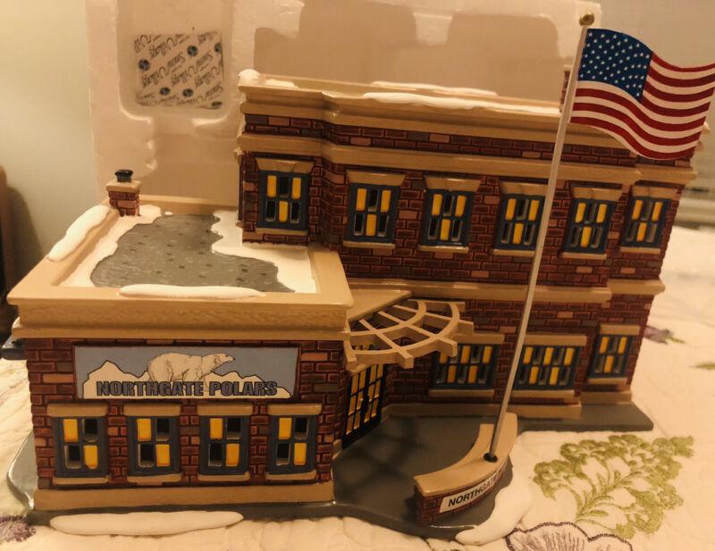 Dept. 56 Snow Village Northgate School Retired Piece W/ Box