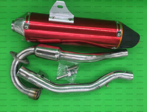 ALUMINUM EXHAUST MUFFLER FULL SYSTEM FOR HONDA CRF150F CRF230F 03-16 RED