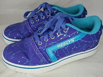 GIRLS' HEELY'S ROLLER SNEAKERS! BRIGHT BLUE! YOUTH SIZE 4 Women's size 5