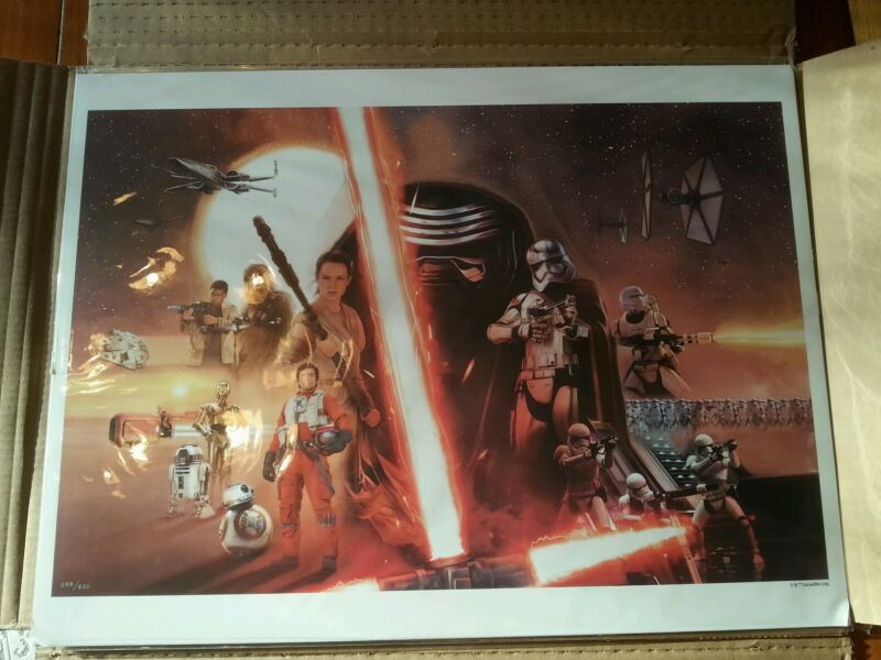 Star Wars VII: Force Awakens Exclusive Lithograph Print