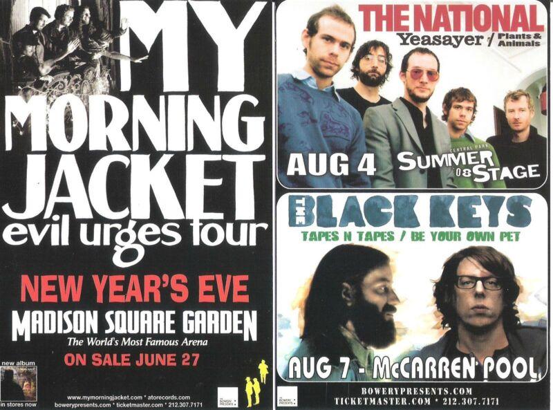 My Morning Jacket The National Black Keys  Concert Handbill Mini-Poster NYC