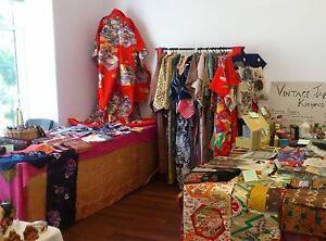 Vintage Japanese Kimono Fabric 28 August Rockingham Gary Holland Victoria Park Victoria Park Area Preview