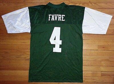 Reebok Football Jersey Team Apparel Favre #4 NY Jets XL Green White NWOT c1038