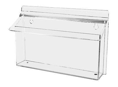 Outdoor Bi-fold Brochure 8.5w X 6h Holder For Avon Catalogs Flyer Box Lot Of 2