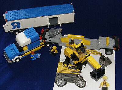 Lot of LEGO 7848 Toys R Us Trailer + MOC Construction Crane + MOC Tractor Truck