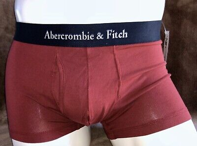 New Abercrombie & Fitch Boxer Briefs Men's Underwear Red Small