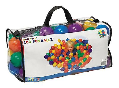 Intex Ball Toyz 100 X-Large Fun Ballz PVC Ball Pit Balls New Phalate Free!