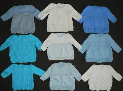 """4x PREM BABY BOY KNITS Chest circumference 36cm/14"""" Canning Vale Canning Area Preview"""