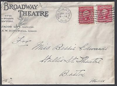 Us 1906 Broadway Theater Advertising Cover New York Jacob Litt Proprietor Cover