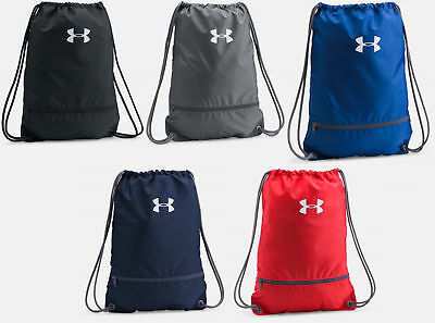 Under Armour String Drawstring Cinch Sack School Tote Gym Bag Sport New - Drawstring Sports Bag