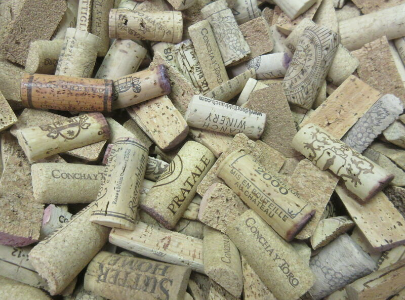 300 Pre-Cut Wine Cork Halves No Plastic/Champagne Free US Ship Used Craft Precut