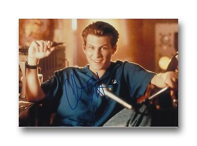 CHRISTIAN SLATER HAND SIGNED 12X8 PHOTO PUMP UP THE VOLUME.