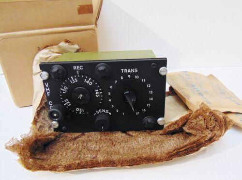 C-49 VHF Comm Military Aircraft Radio Control Panel, Unused Surplus, New In Box