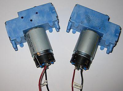 2 X Mini Diaphragm Hargraves Air And Gas Dual Head Dc Pump - 11 Lmin - 12 Vdc