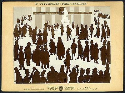Otto BOHLER (Artist): Vienna Silhouette Scene with Johannes BRAHMS (Composer)