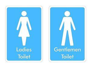 Toilet Signs Sticker Decal Graphic Ladies Gentlemen Labels V3 Ebay