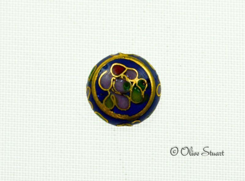 Oriental Cloisonne Beads Loose disc/button 12mm x 6mm