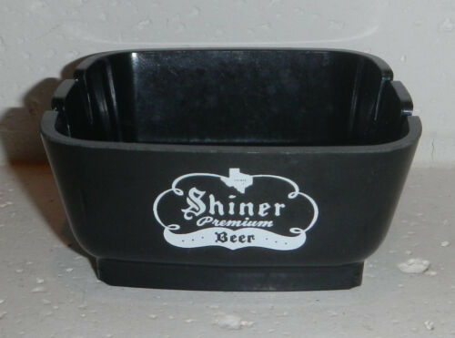 Vintage Shiner Bock Beer Texas Logo Plastic Cigarette Ashtray Made in USA