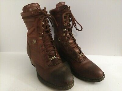 Women's Double-H Brown Leather Packer Boots Size 7.5 M #1088 HH