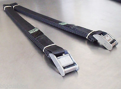 2-pack of 3m x 25mm Cam Buckle Tie Down Endless Lashing 400kg; Cargo Straps