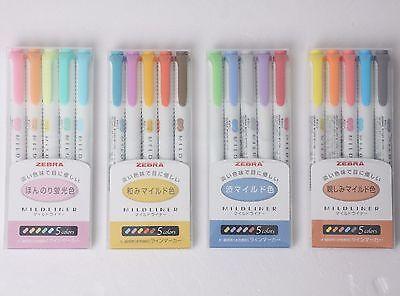 Zebra Mildliner Soft Color Double-sided Highlighter Pen 20-colors 4 Set Wkt7 Jpn