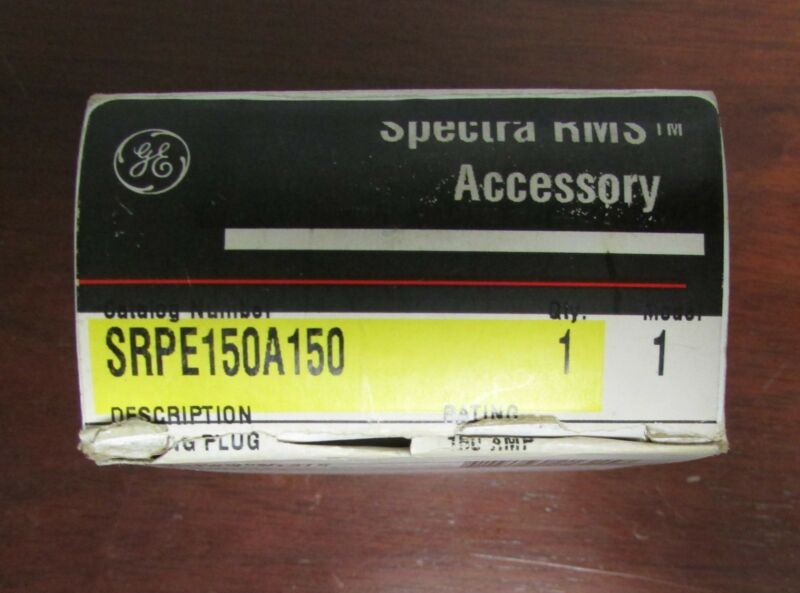 GENERAL ELECTRIC GE SPECTRA RMS Rating Plug 150 Amp SRPE150A150