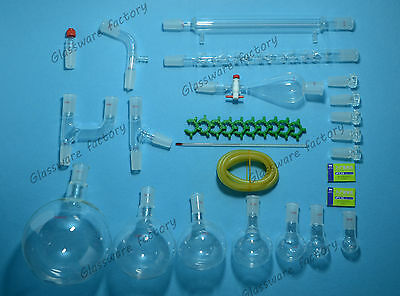 32pcs2440organic Chemistry Glassware Kitlaboratory Chemical Kit2000ml