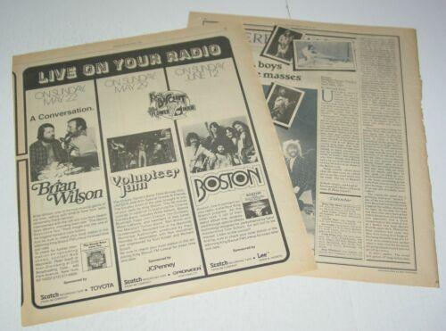 Boston Radio Concert + Article Ad Advert 1977 Tour King Biscuit Debut Album Prog